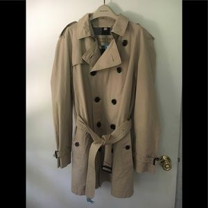 Mens Burberry Brit Double Breasted Trench Coat